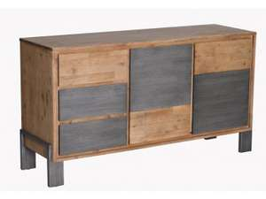 Massives Sideboard aus gebürsteten Akazienholz    - Angebot von Main Möbel