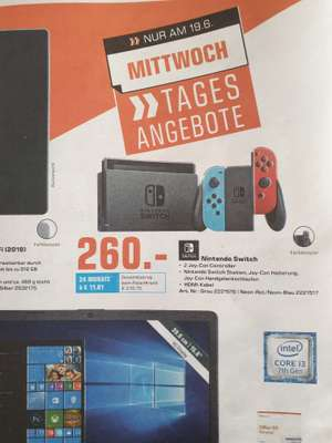 [Saturn Trier] Nintendo Switch in Grau/ Rot-Blau für 260€!