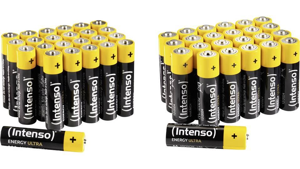 Intenso-Set: 48 Energy Ultra-Batterien (24x AA Mignon + 24x AAA Micro)