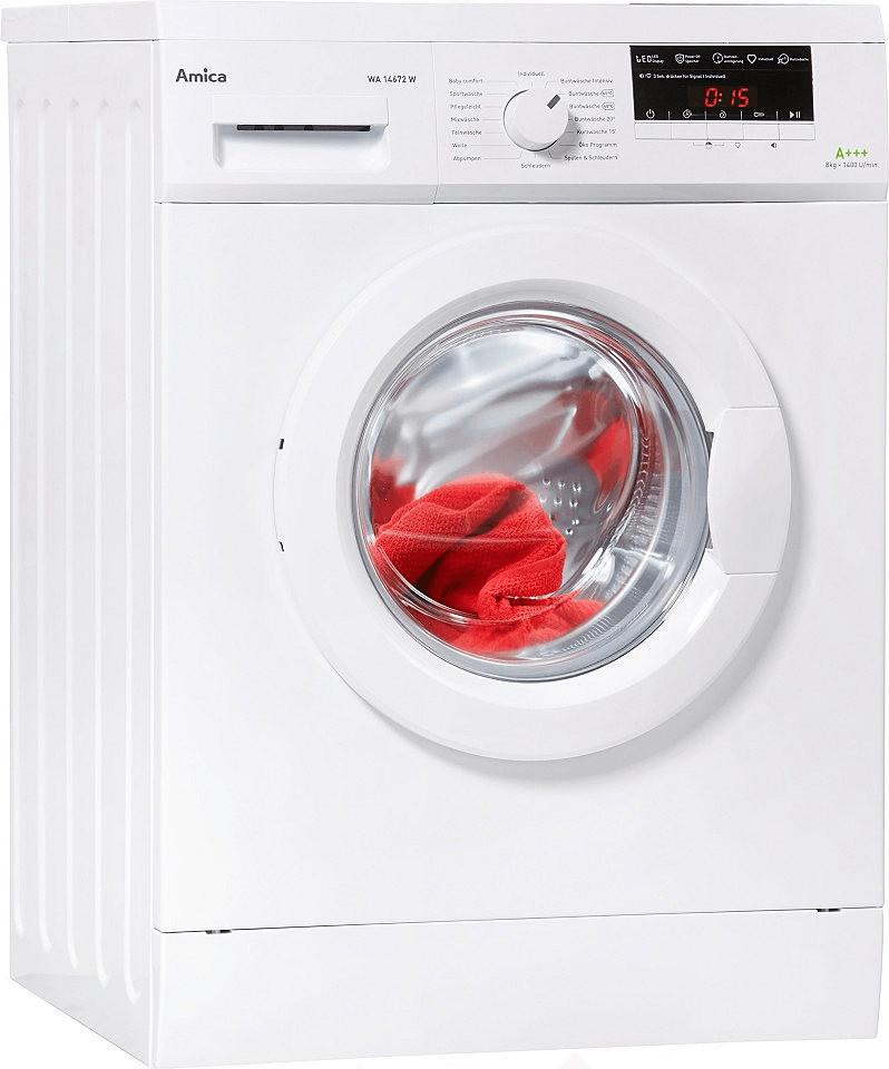 Waschmaschine Amica WA 14672 W A 8kg 1400 U Min 16