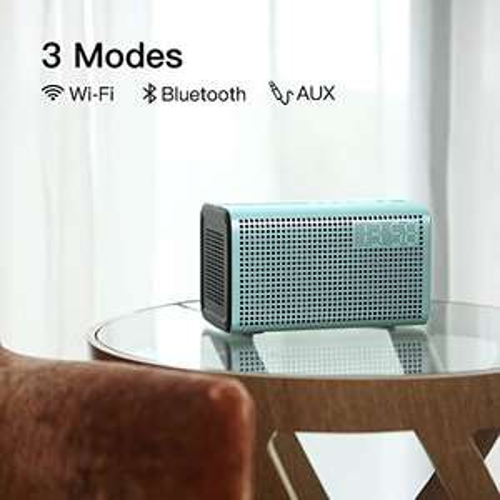 GGMM E3 Multiroom Lautsprecher mit Bluetooth, Wifi, AirPlay mit integrierter LED Uhr & Wecker