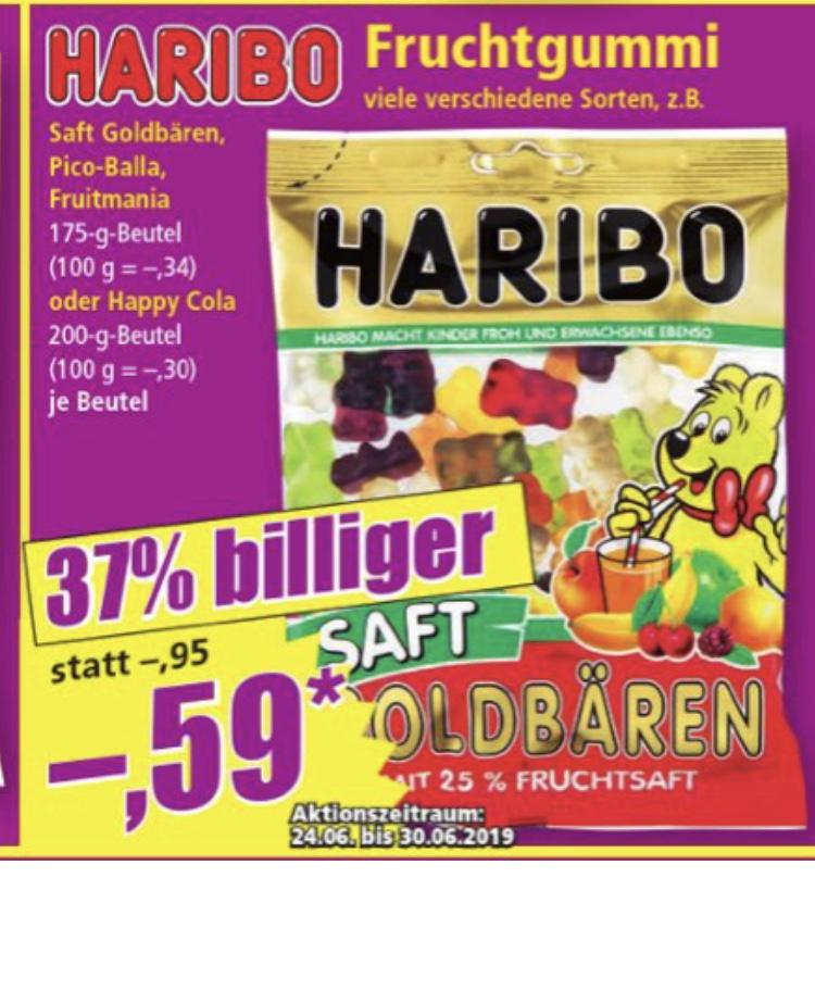 Norma Haribo Saft Goldbären Fruitmania 0,59€