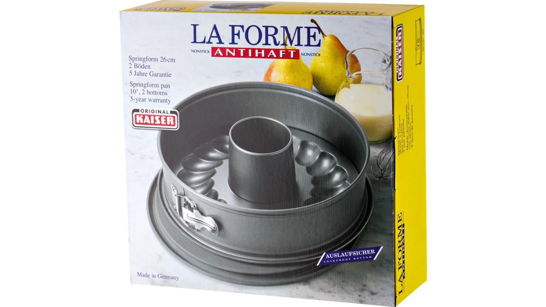 """Kaiser Springform-Set """"La Forme"""" (Mit 2 Böden, 26 cm) [MÜLLER]"""