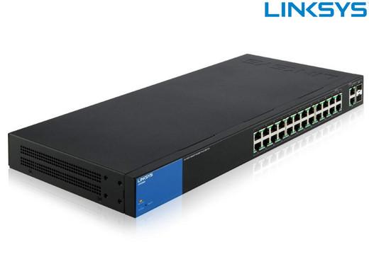 """LINKSYS Netzwerk-Switch """"LGS326MP-EU"""" (Mit 26 Anschlüssen, 384 Watt PoE +, erweiterbar) [iBOOD]"""