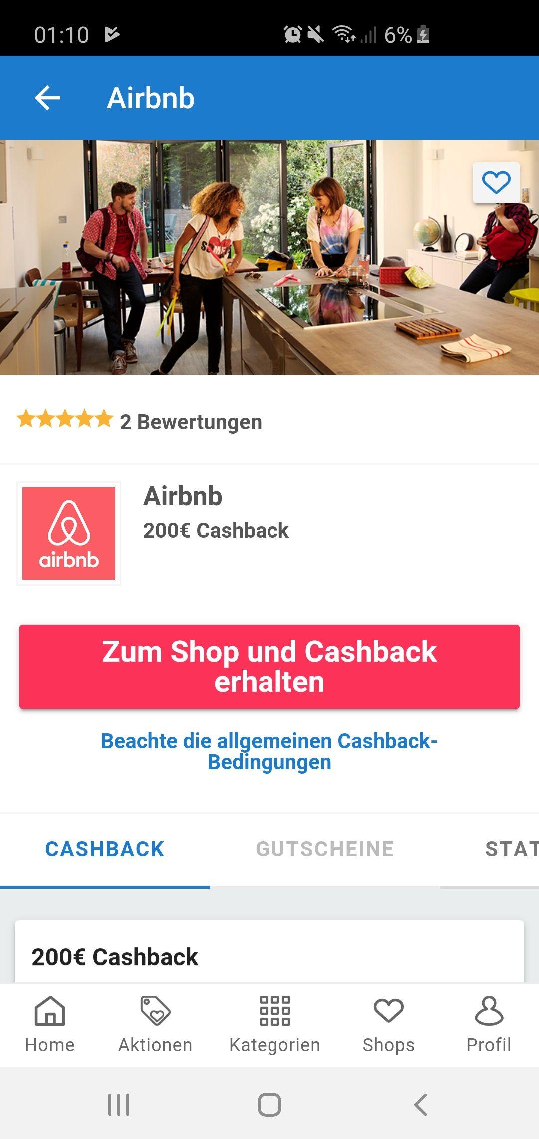 200€ Cashback bei erfolgreicher Vermietung über Airbnb