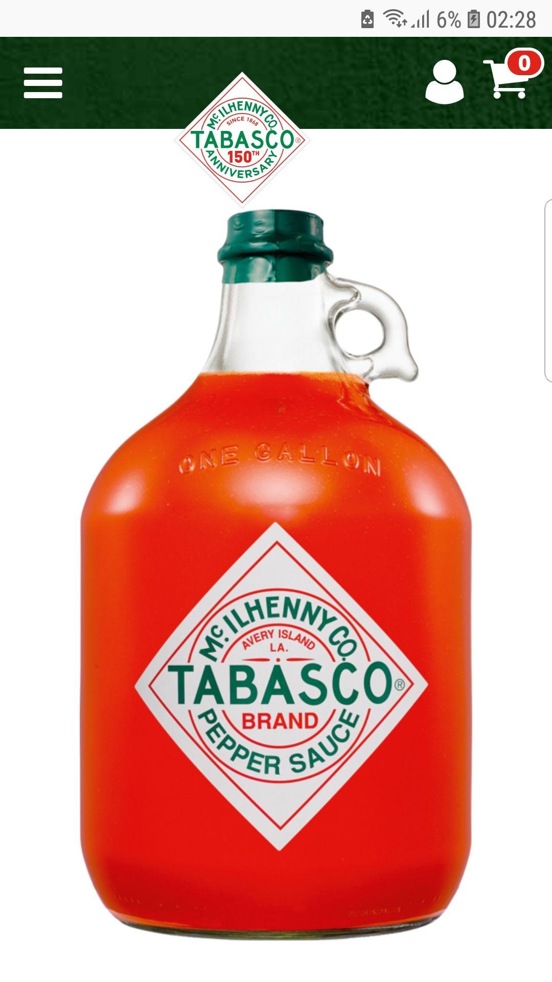 Tabasco 3,78 Liter MHD Aktion