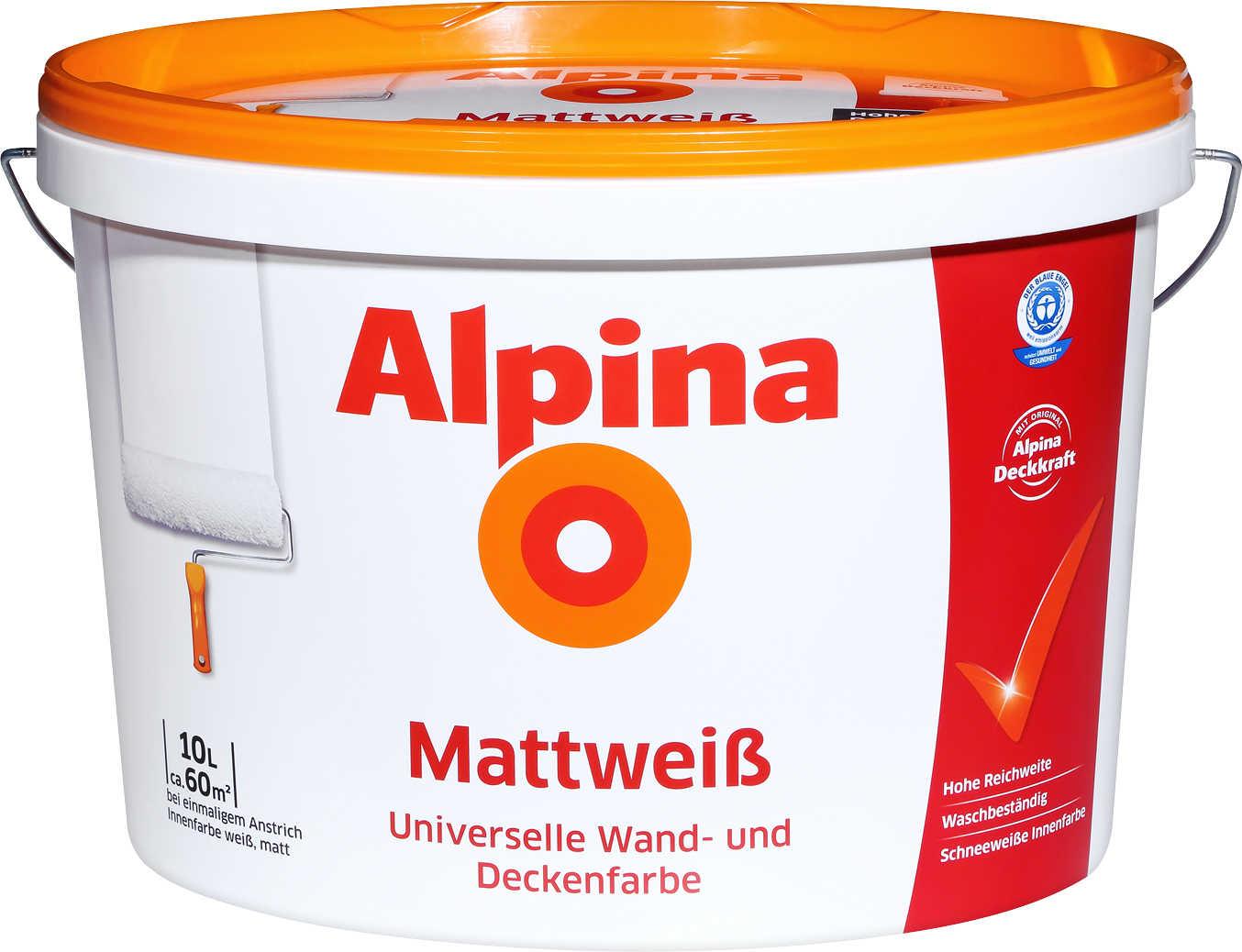 [Kaufland] Alpina Mattweiß 10L (ohne Katze)