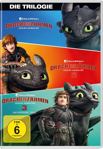 19% auf alle Filme, z.B. Drachenzähmen leicht gemacht 1 - 3 Movie Collection (DVDs)