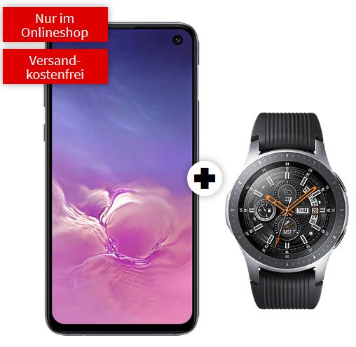 Galaxy Watch 46mm LTE im Debitel Vodafone (6GB LTE) für einmalig 49€ mit S10e 26,99€ mtl.   S10 31,99€ mtl.   S10+ 128GB 36,99€ mtl.