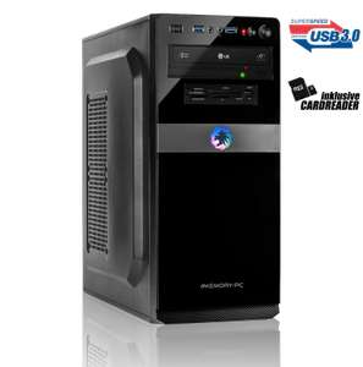 Gaming PC mit Ryzen 5 2600, Radeon RX 580 OC 8GB, 8 GB RAM, 240 GB SSD, Tom Clancy's The Division 2 & World War Z für 479,60€