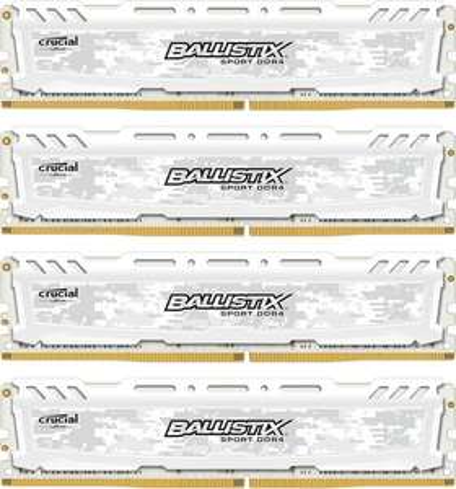 Ballistix 16 GB DDR4-2400 Quad-Kit, Arbeitsspeicher weiß ab 15,90 + Versand / Lieferbarkeit beachten