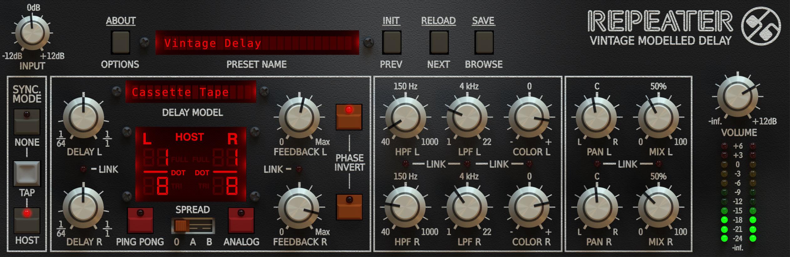 [VST/AAX] Multieffekt-Gerät Delay für Musiker