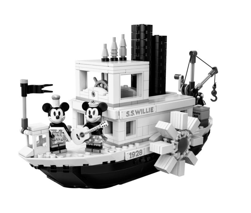 Lego 21317 Steamboat Willie + 2 Gratisartikel (Avengers Tower + Weltraumrakete)