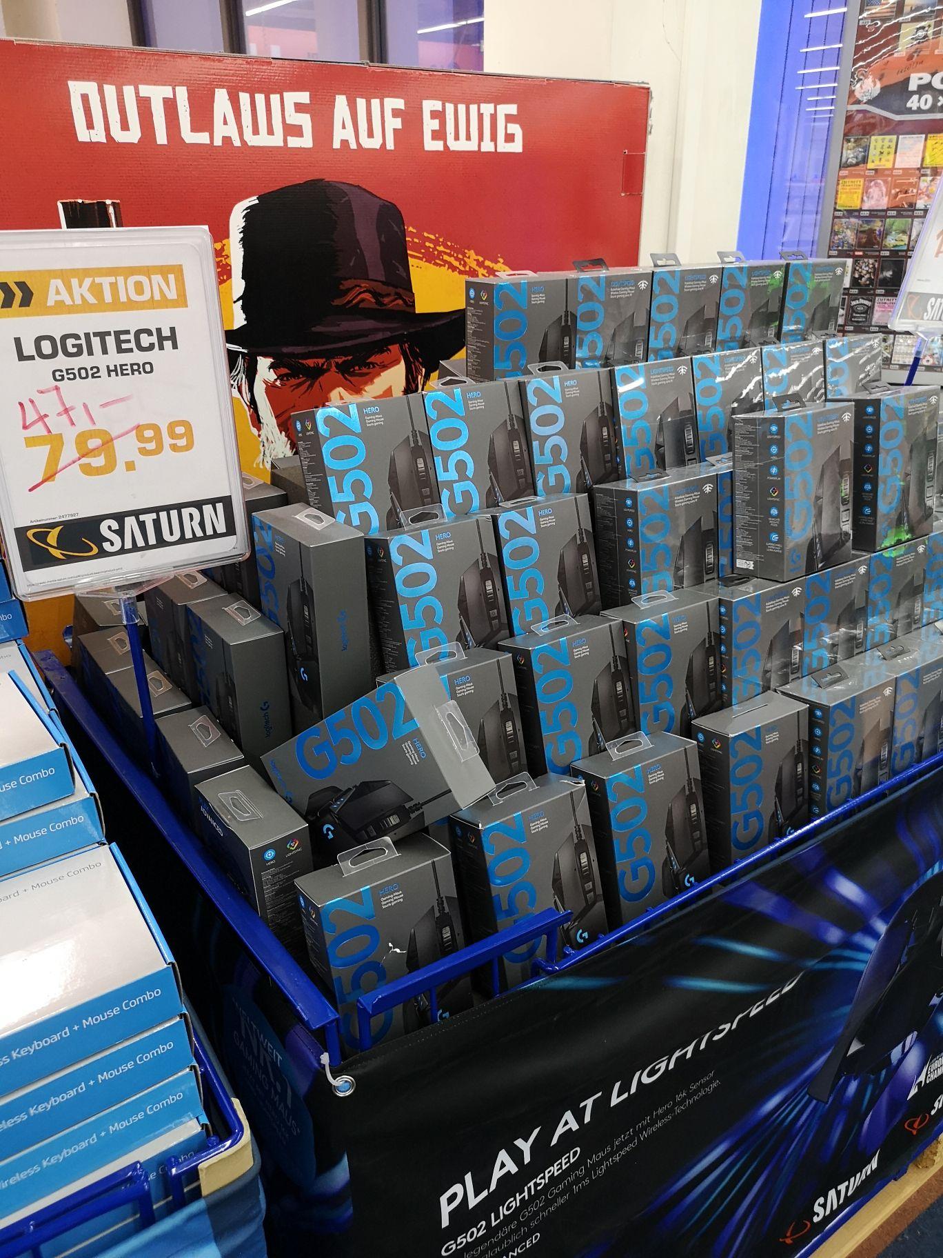 [Lokal Münster Saturn Arkaden] Logitech G502 Hero Gaming Maus für 47€