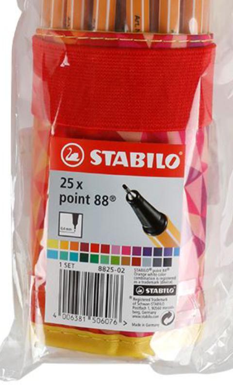 """[ThomasPhilipps] • STABILO Point 88 • 25er Stiftset """"Fan Edition""""  Fineliner in vers. Farben mit Etui (20Cent/Stk.)"""
