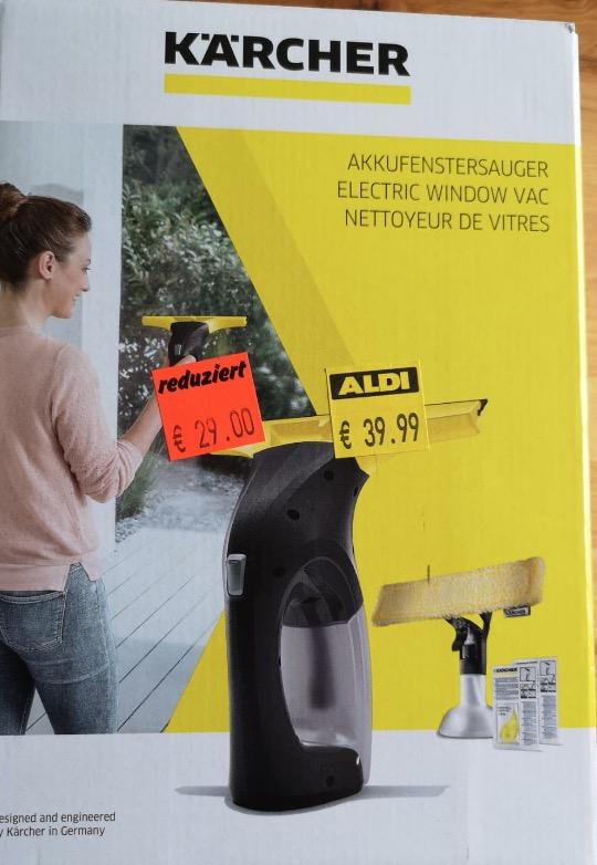Lokal Halle Saale KARCHER Akku Fenstersauger Set KWI 1 AN Fensterreiniger
