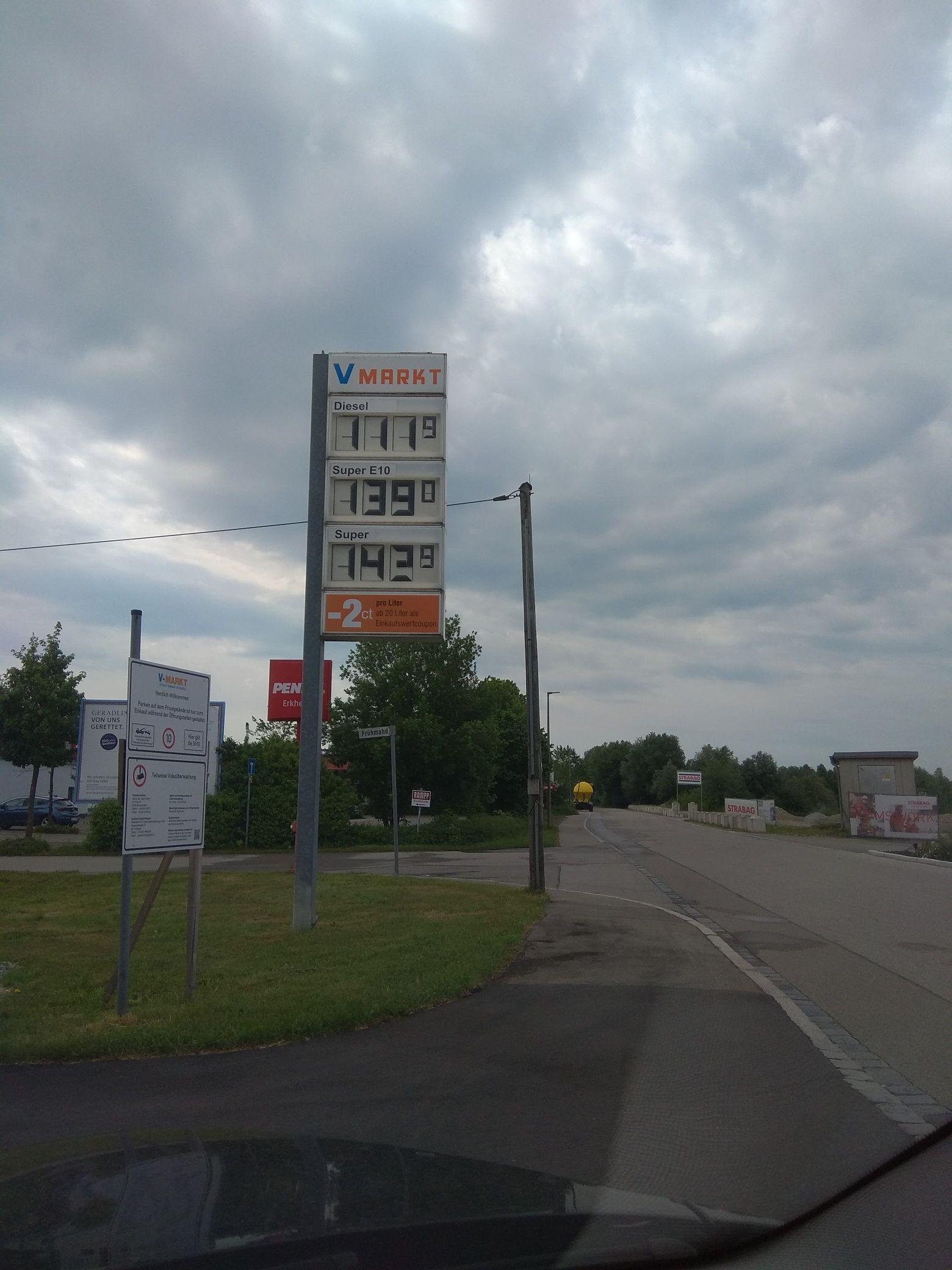 1,119€ Diesel (lokal) Erkheim bei Memmingen