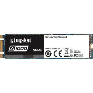 Kingston A1000 480GB SSD (M.2, NVMe, 3D-NAND TLC, PCIe 3.0 x2, R:1500MB/s, W:900MB/s) für 54,85€ [Mindfactory@eBay]