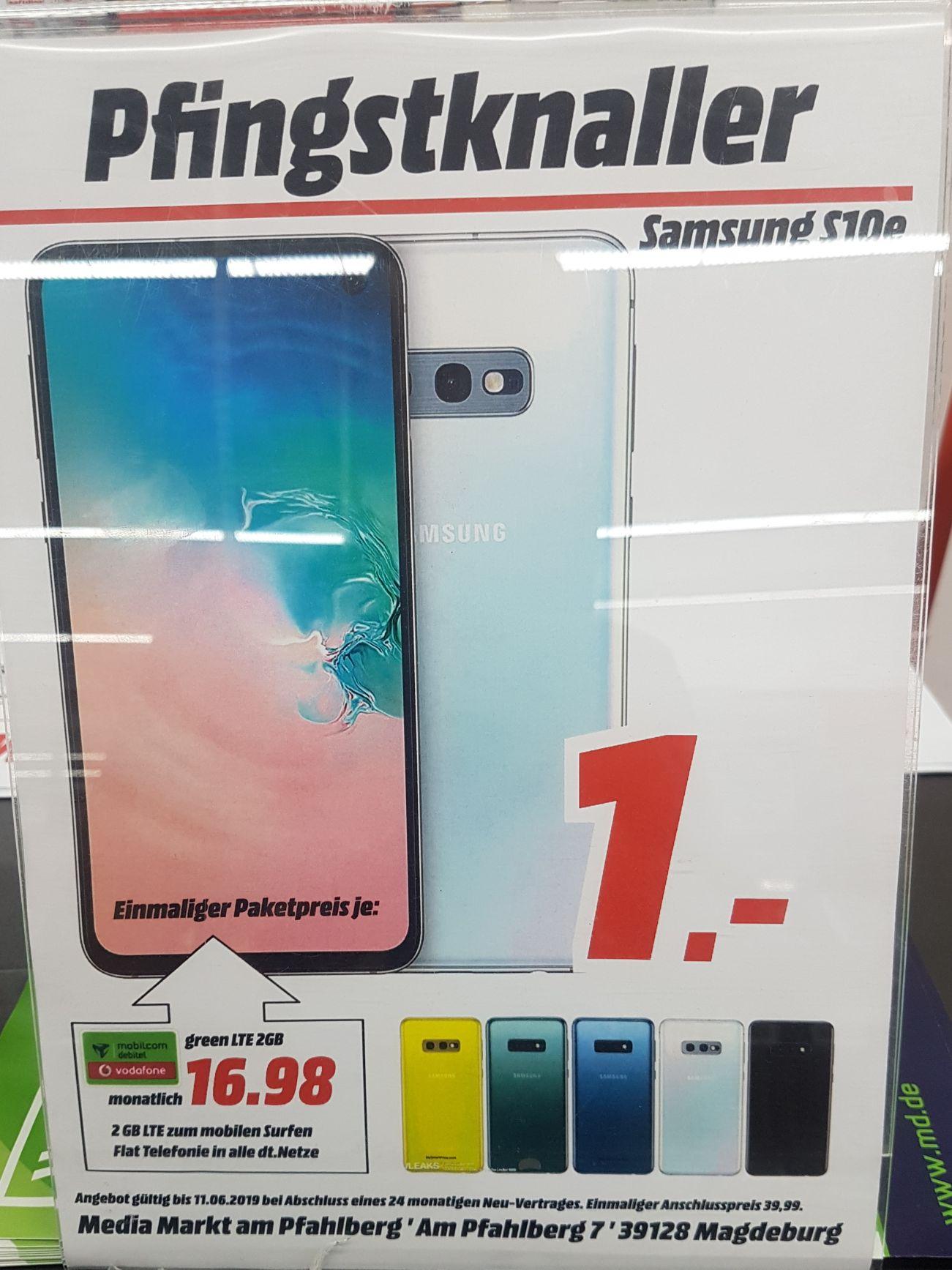 [Lokal Mediamarkt Magdeburg] Samsung Galaxy S10e im Debitel Vodafone (2GB LTE/Allnet) für 16,98€ mtl.
