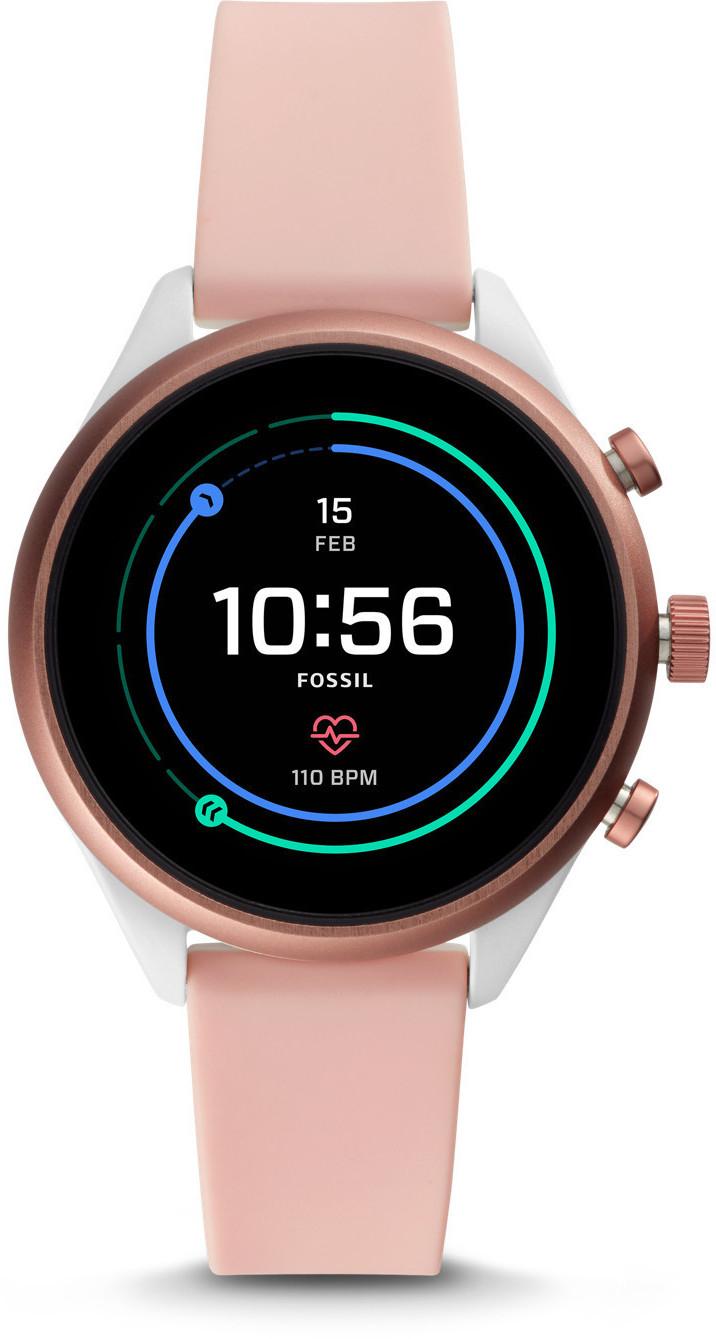 Fossil FTW6022 Damen-Smartwatch mit Silikon Armband [Amazon]