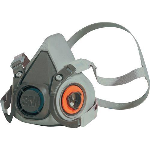 3M Atemschutzhalbmaske 6200 Serie 6000 o.Filter 4Pkt-Bebänderung m.Kopfbügel