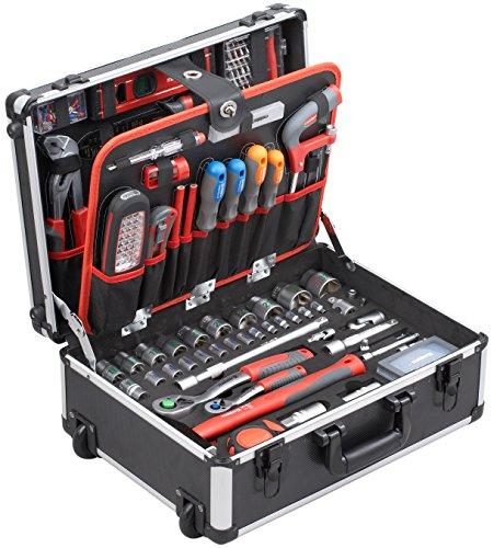 Meister Werkzeugtrolley 156-teilig Profi Werkzeugkoffer