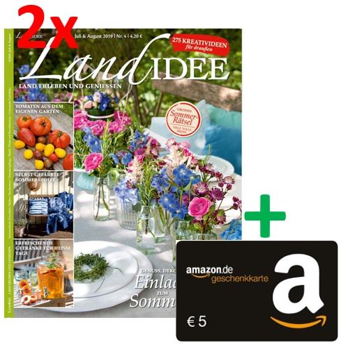 2 Ausgaben LandIDEE mit 5 € Amazon-Gutschein & 5 € ShoppingBon (bei Bankeinzug)