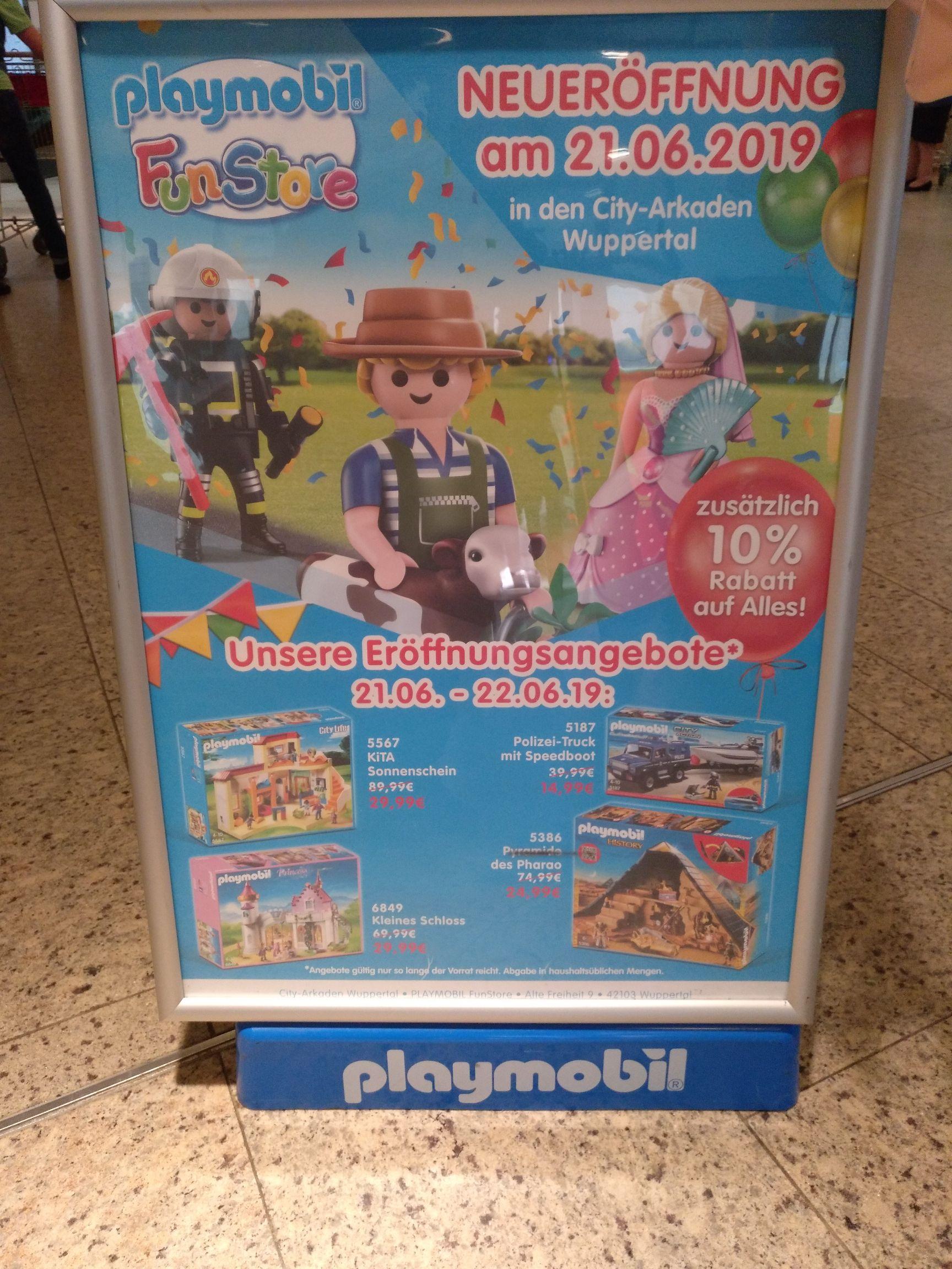 Playmobil Store Eröffnung Wuppertal City-Arkaden Angebote + 10% Rabatt