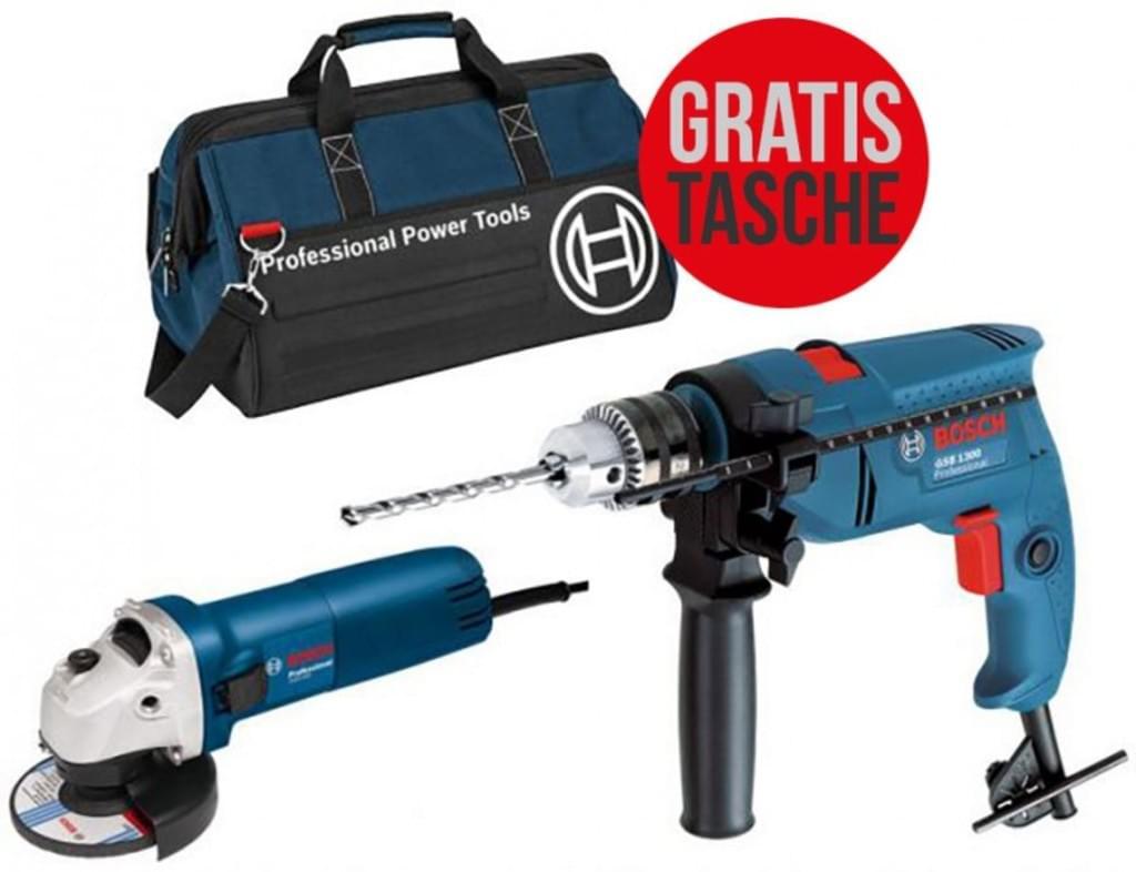 [REAL.de] Preisfehler - Bosch Professional Schlagbohrmaschine + Winkelschleifer + Tasche