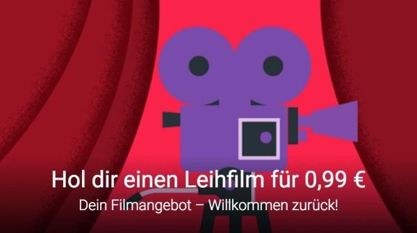 Google Play Movie - Beliebigen Film ausleihen für 0,99€ oder 1.49€