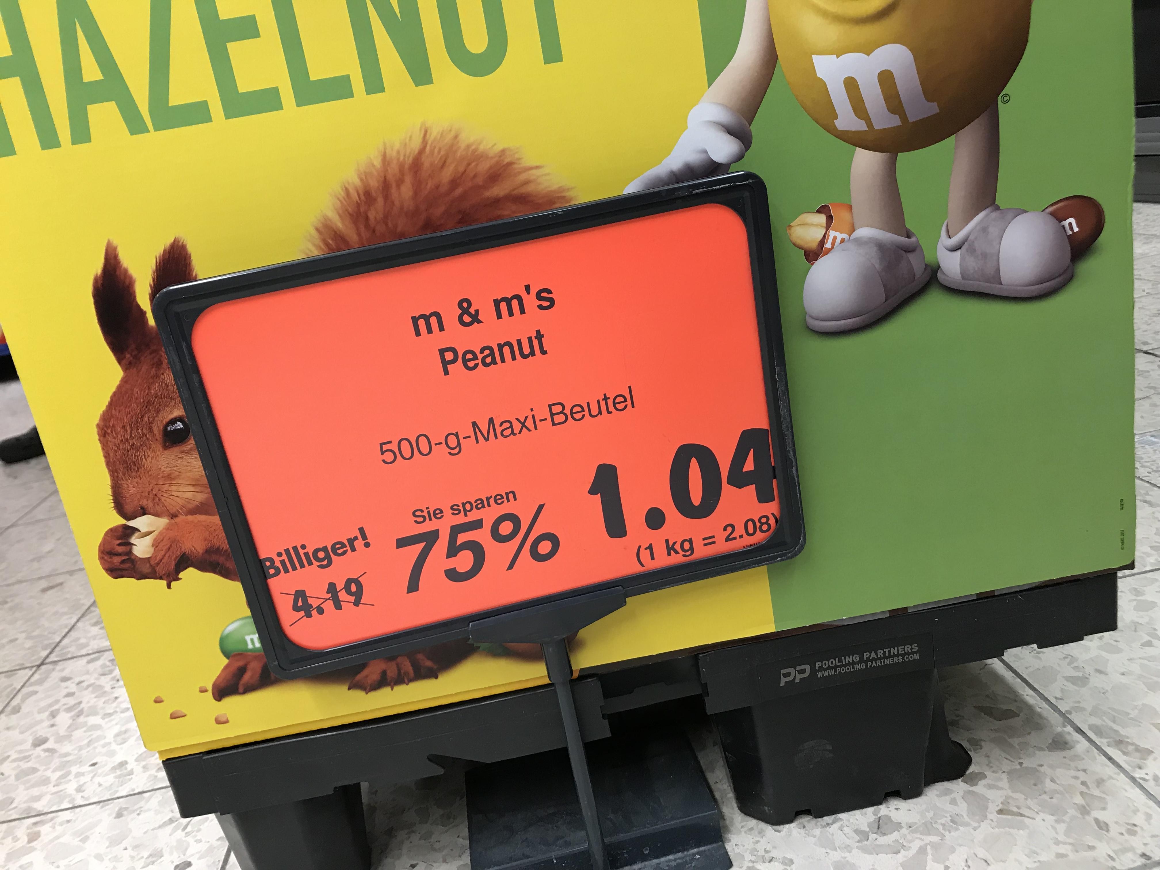 [Kaufland Emsdetten] M&M Peanut 500g Maxi Beutel