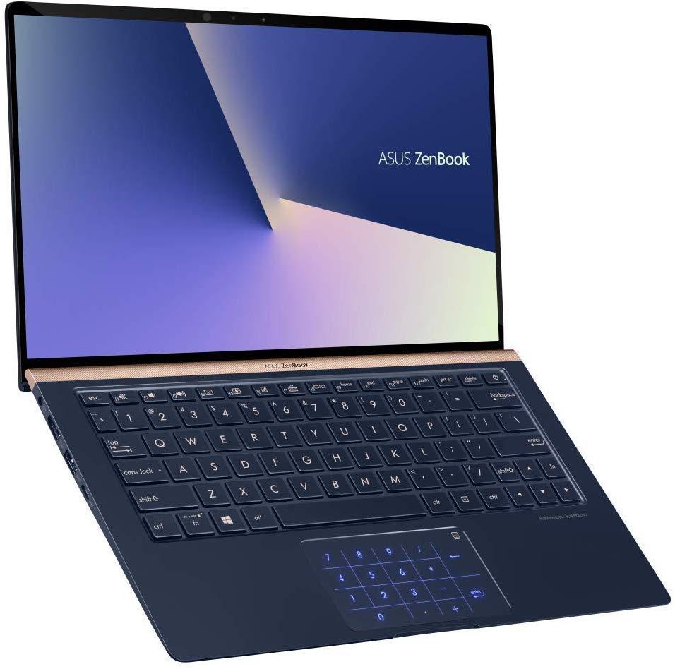 "Asus ZenBook 13.3"" - IPS 100% sRGB, i7-8565U, 8GB RAM, 256GB PCIe SSD, MX150, NumberPad, Aluminium, AZERTY, 1.1kg, Harman Kardon (Amazon.fr)"