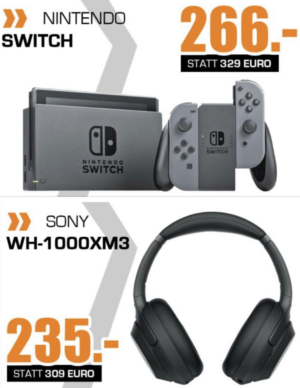 Lokal Saturn Hattingen: Sony WH-1000XM3 für 235€, Nintendo Switch für 266€, Dyson V11 für 555€ usw. - nur am Sonntag 23.06.