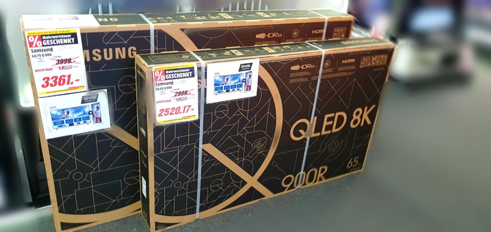 "Samsung 8K 75""65"" Q900 QLED TV + Galaxy S10 Plus Media Porta Westfalica"