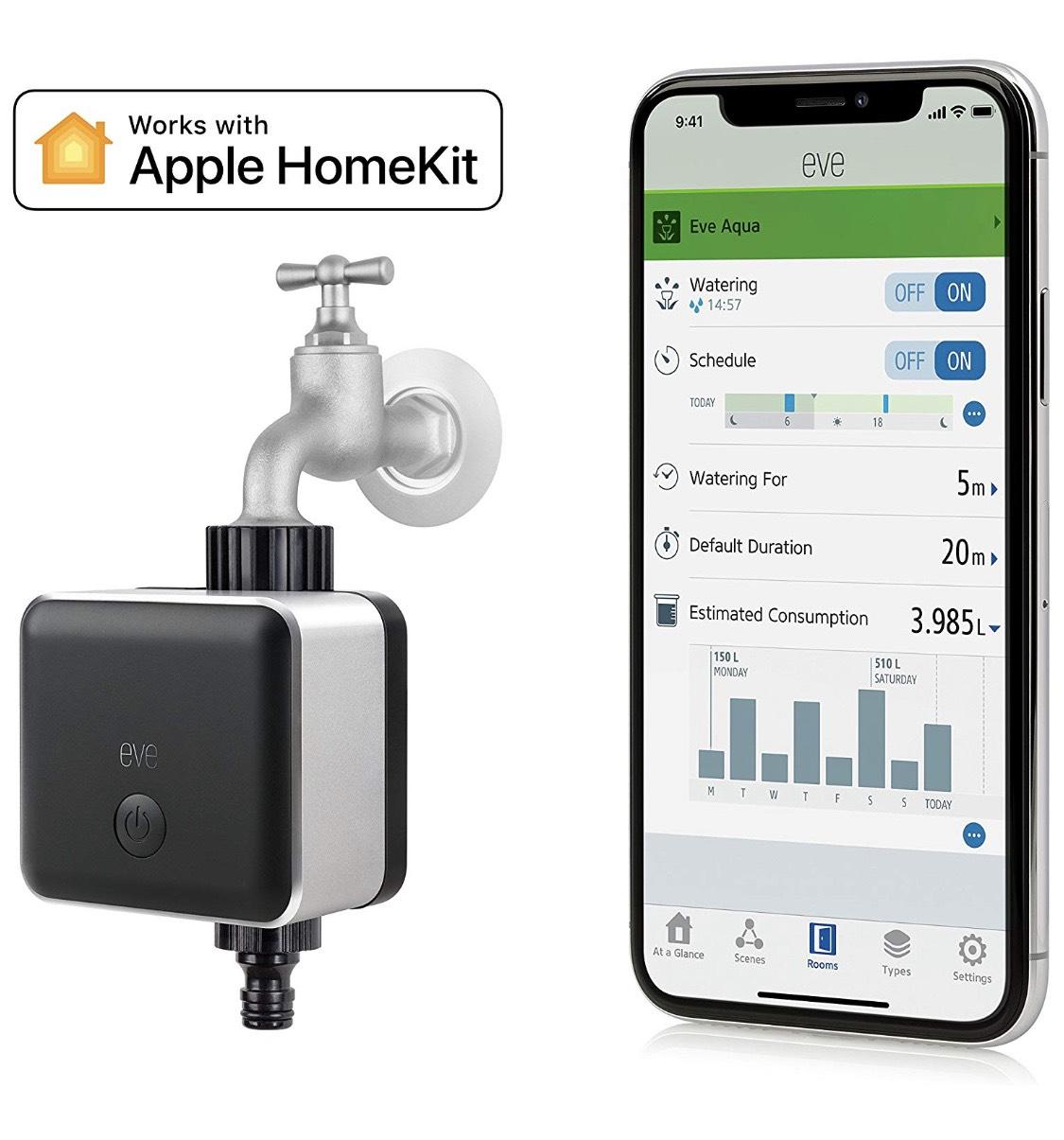 Eve Aqua - Smarte Bewässerungssteuerung, Bewässerungstimer Apple HomeKit inkl. Versand (Prime)