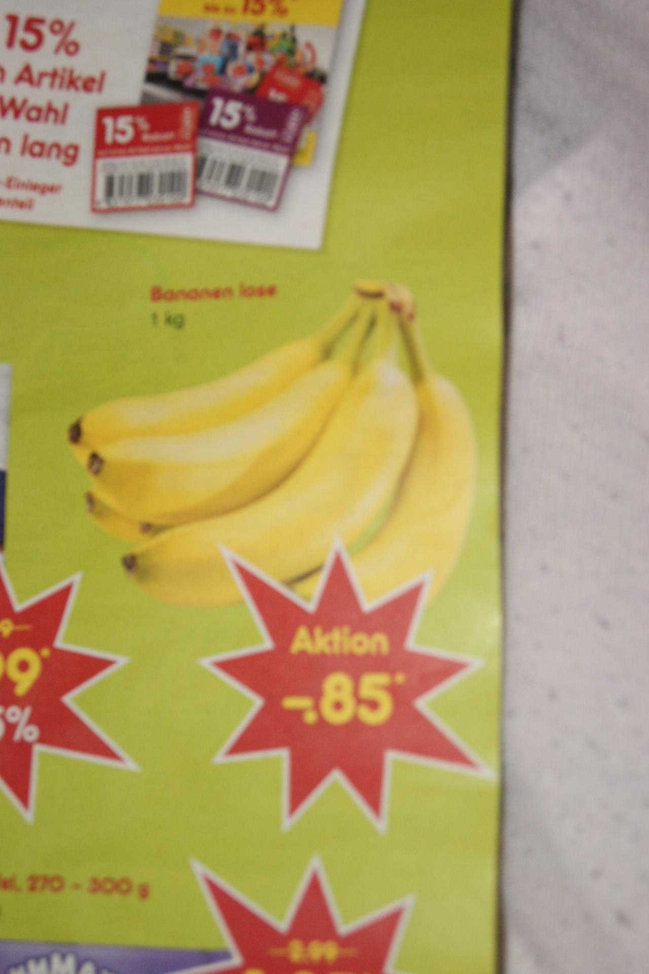 Bananen nur 85 Cent je kg bei netto (ohne Hund) ab 24.6. bundesweit