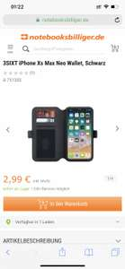 iPhone XS Max Wallet Case * Book case 3sixt