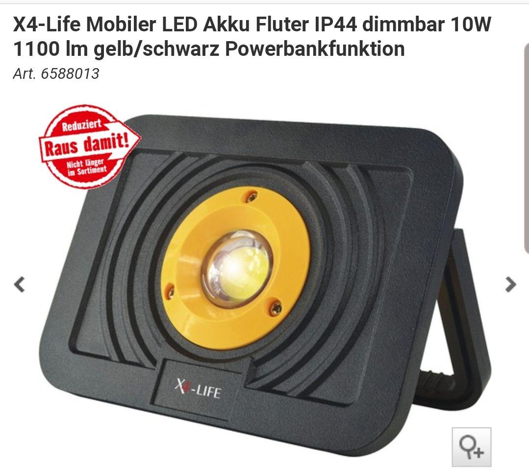 X4-Life Mobiler LED Akku Fluter IP44 1100 LM ( HORNBACH)