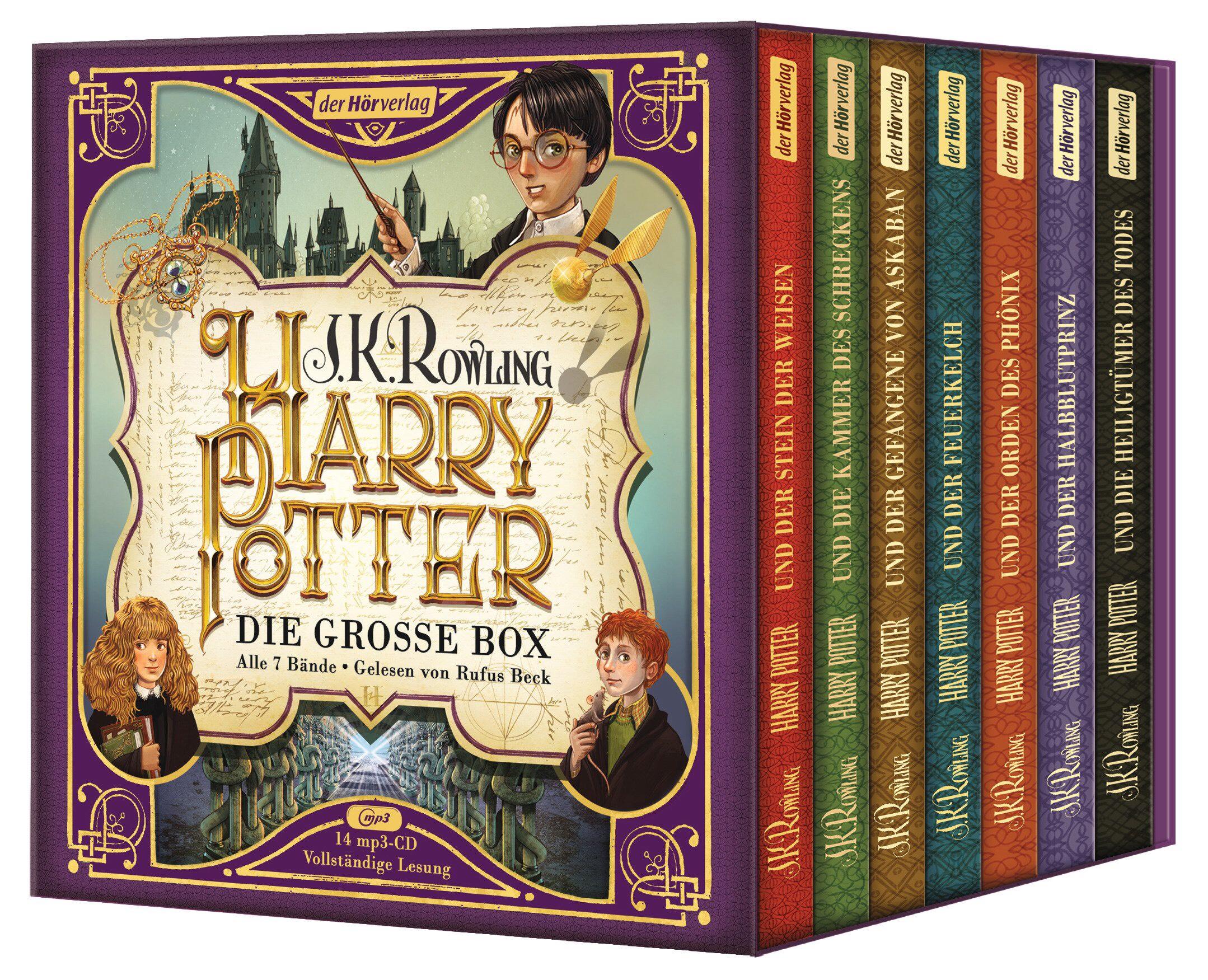 """Harry Potter Hörbuch alle 7 Bände """"Die große Box zum Jubiläum"""" Hörspiel gelesen von Rufus Beck [MP3 CD]"""