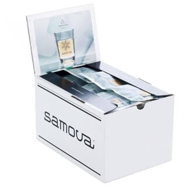 samova Space Bio-Tee 10er- (1,95€) & 50er Boxen (8,95€) Pyramidenbeutel – Ausverkauf wegen neuem Design