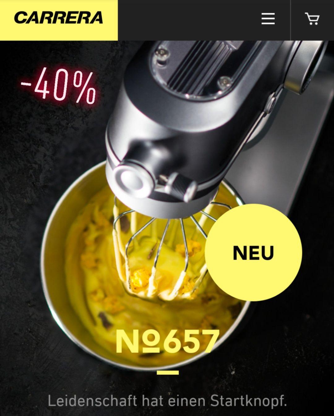 40% auf Carrera Haushaltsgeräte und Hairstyling für angemeldete Amex Kartenkunden unter carrera.de.