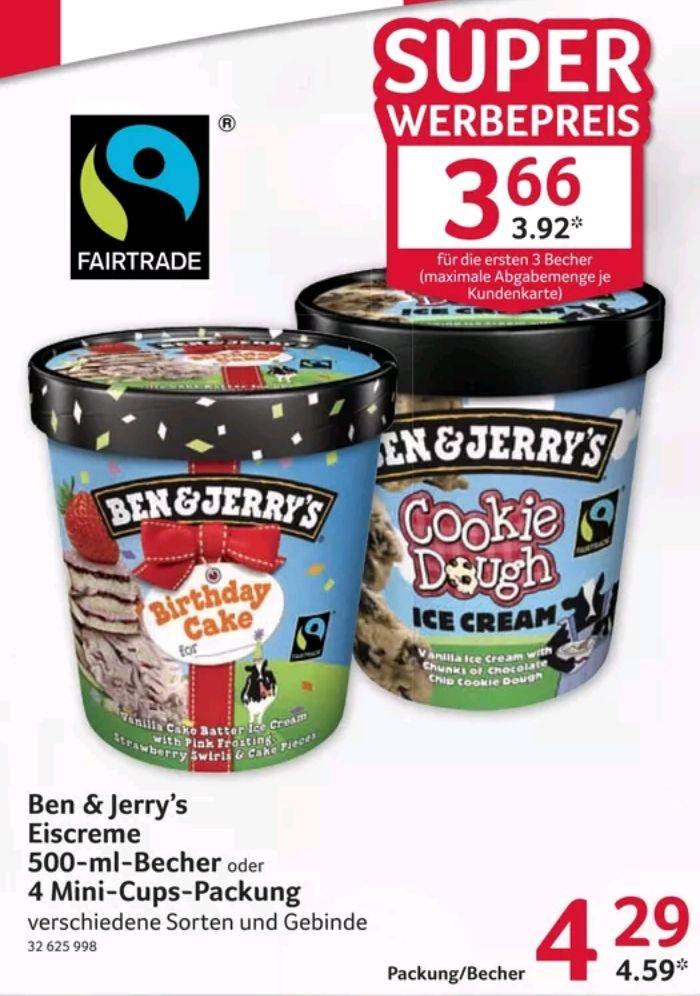 Ben & Jerry's Eiscreme 500ml Becher [Selgros - auch ohne Gewerbe möglich]
