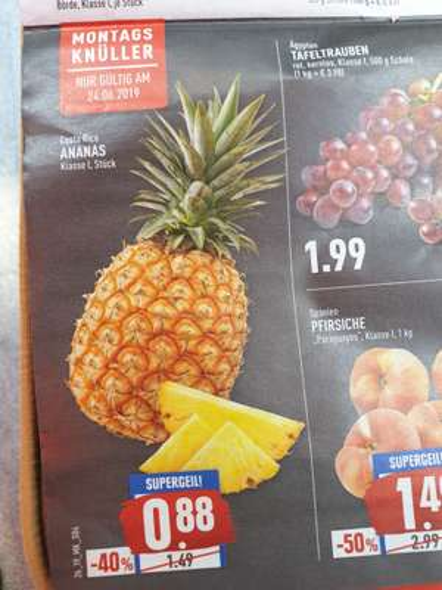 Ananas für 0,88€, nur am Montag 24.06 Marktkauf (Rhein-Ruhr)