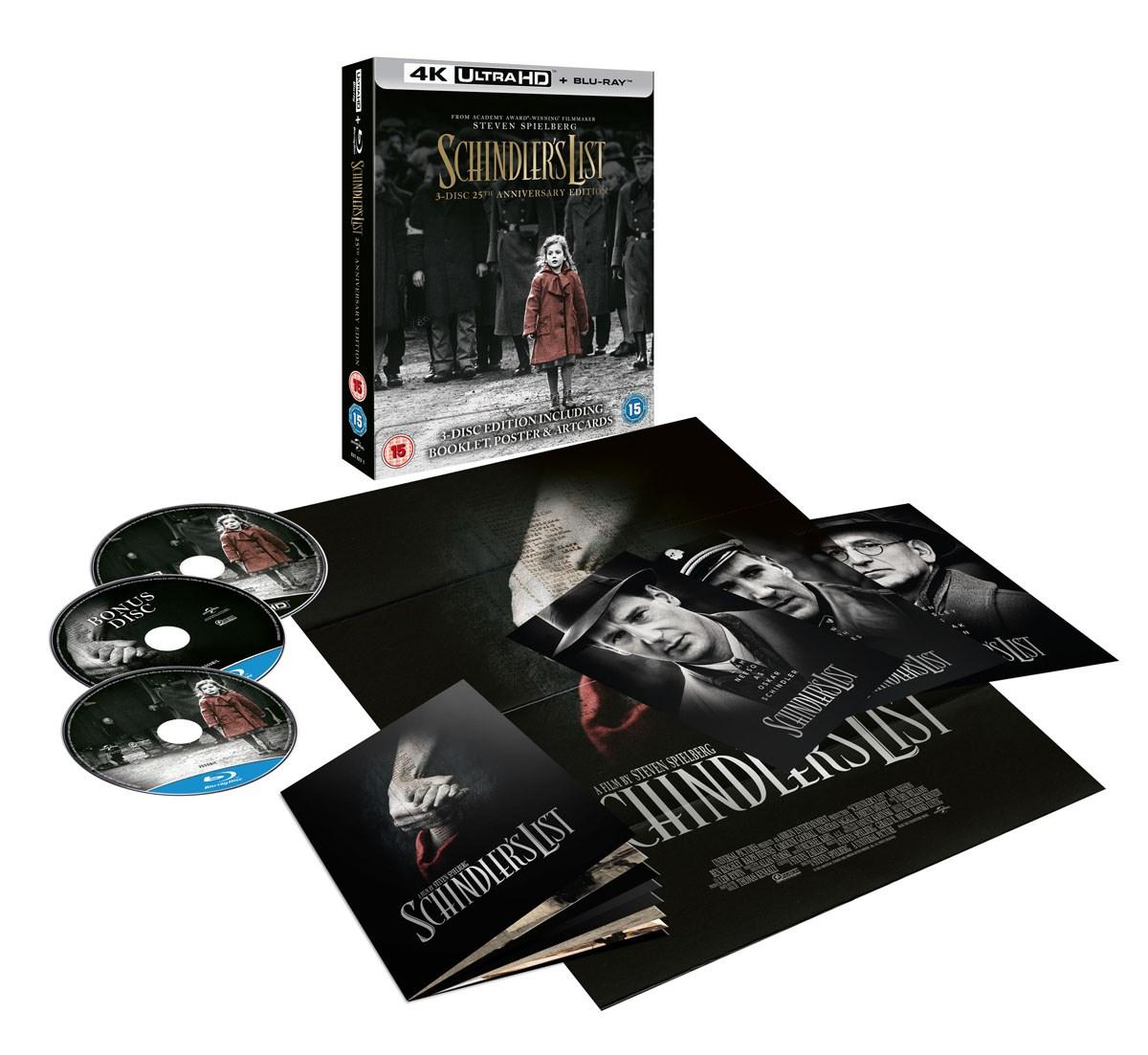 Schindler's List 4k 25th Anniversary Edition 4K Ultra HD HDR + Blu-ray für 15,29€ @ Zoom