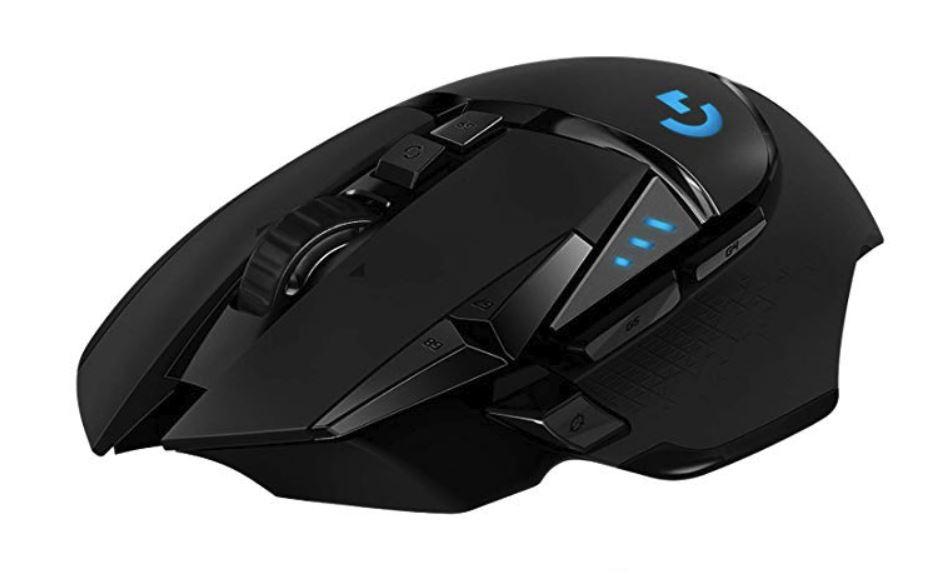Logitech G502 Lightspeed Wireless Gaming Mouse schwarz, USB (Hero 16k, RGB, Akku, Induktion, Omron-Taster)