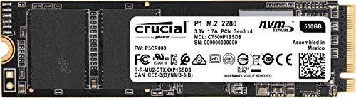 [Prime] Crucial P1 500GB SSD (3D NAND, NVMe, PCIe, M.2, Lesen 1900MB/s Schreiben 950MB/s)