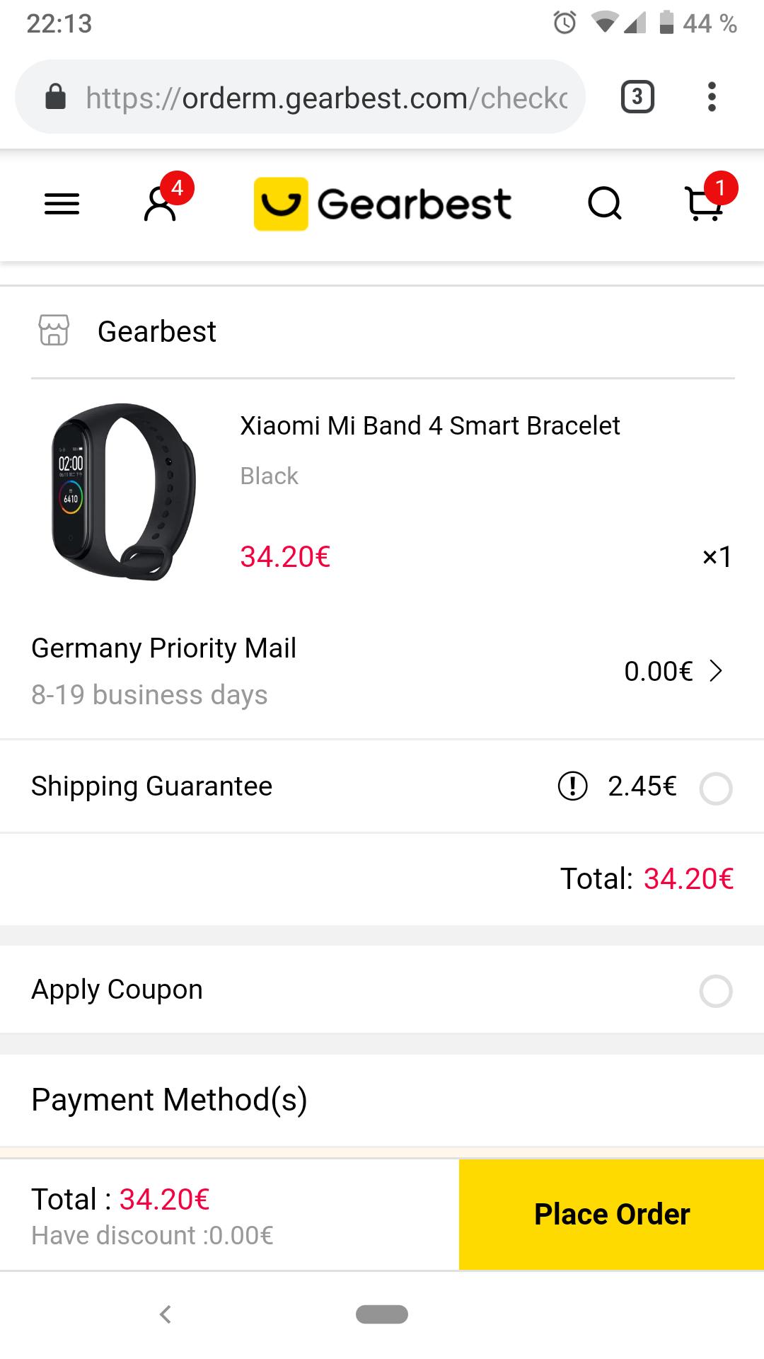 Xiaomi Mi Band 4 - Endlich bei Gearbest vergünstigt