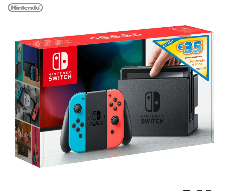 Nintendo Switch + 35€ E-Shop guthaben (effektiv 231,34€) Mediamarkt