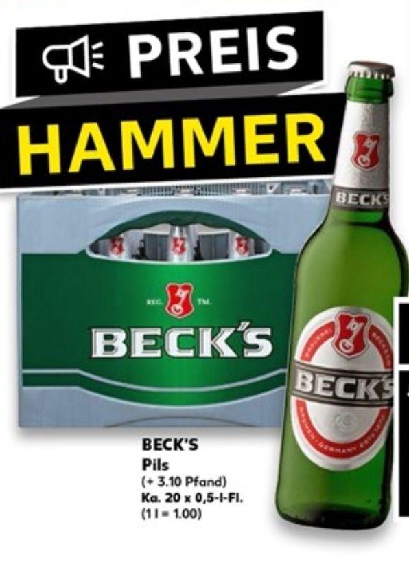 """[Kaufland] Beck's Pils 20x 0,5l Kiste für """"nen Zehner"""""""