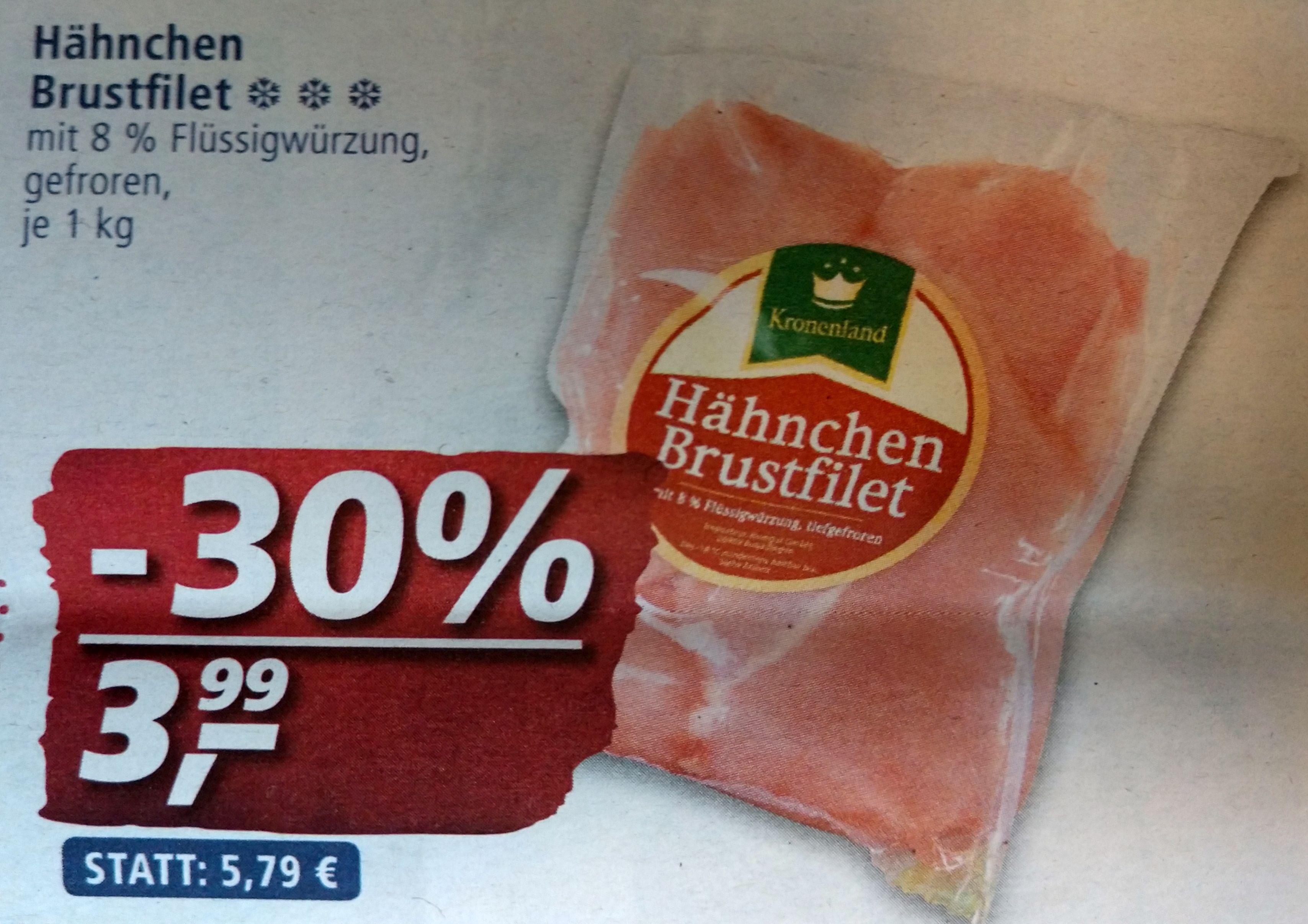 """""""Pumpermarkt"""" [KW26]: z.B. 1kg Hähnchenbrustfilet (TK mit 8% Flüssigwürzung) für 3,99€ bei real"""